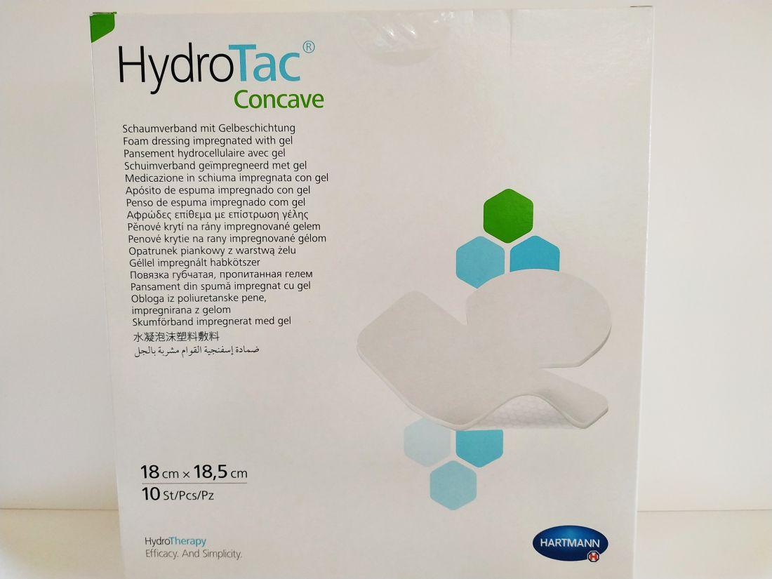 HydroTac géllel impregnált habkötszer 18 x 18,5 cm concave