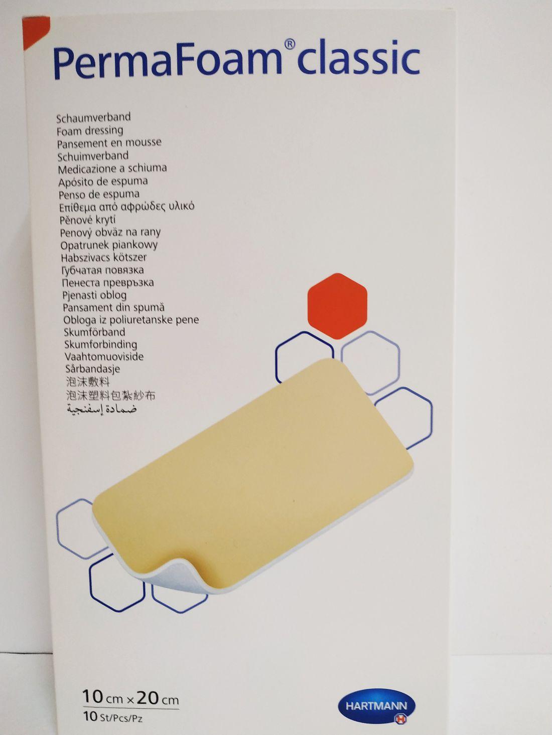 PermaFoam Classic habszivacs kötszer 10x20 cm