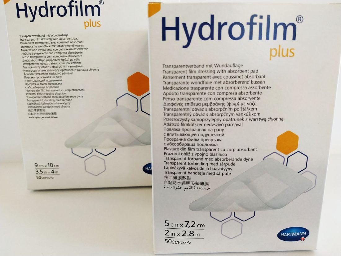 Hydrofilm Plus átlátszó filmkötszer, nedvszívó sebpárnával 10x12 cm