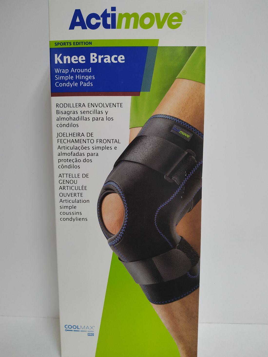 Actimove  körbetekerhető, csuklós, párnázott térdrögzítő